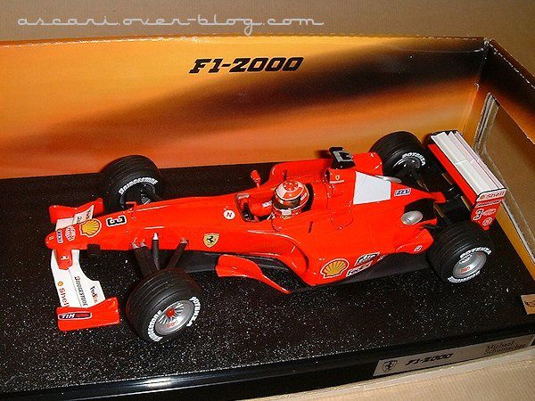 1-18 Ferrari F1-2000 Schumacher Hot Wheels 1