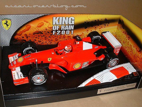 1-18 Ferrari F2001 king of rain Schumacher Hot Wheels 1