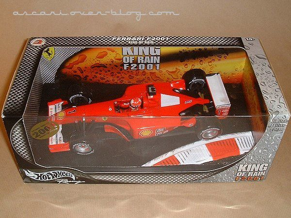 1-18 Ferrari F2001 king of rain Schumacher Hot Wheels