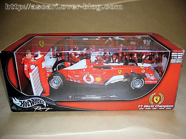 1-18 Ferrari F2003 GA Barichello GP Japon Hot Wheels 0