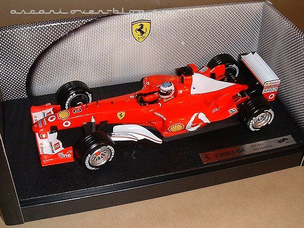 1-18 Ferrari F2003 GA Barichello Hot Wheels 1