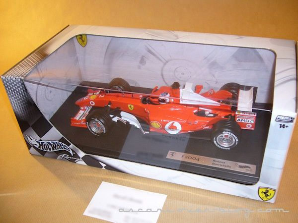 1-18 Ferrari F2004 Barrichello Hot Wheels 1