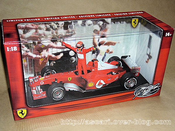 1-18 Ferrari F2004 Schumacher world champion Hot Wheels 1