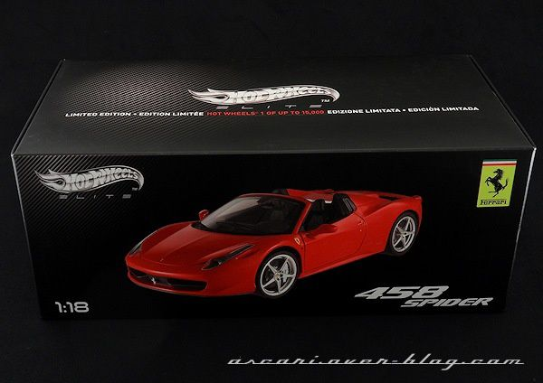 1-18 FERRARI 458 SPIDER ELITE 01