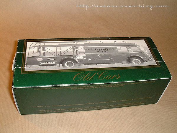 1-43 Fiat 642 camion transport Ferrari Old Car