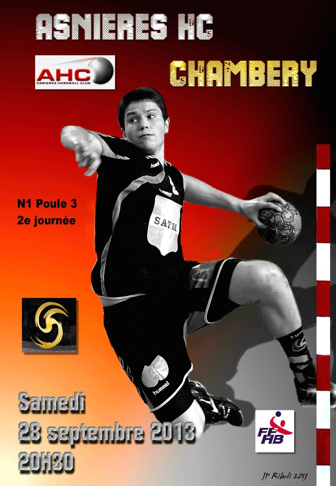 Affiche N1 ASNIERES CHAMBERY 28 09 2013