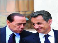 Berlusconi Sarkozy