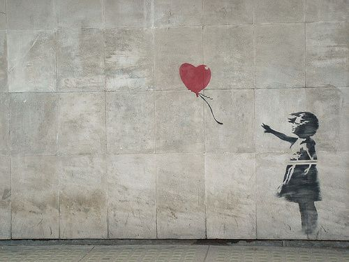 01 banksy girl heart