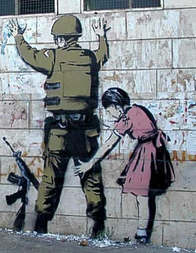 08 banksy soldier and little girl