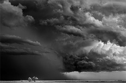 Trees-clouds,Texas 2009