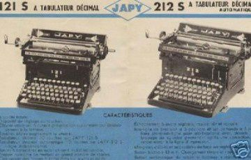 medium 1960 machines à écrire japy.2