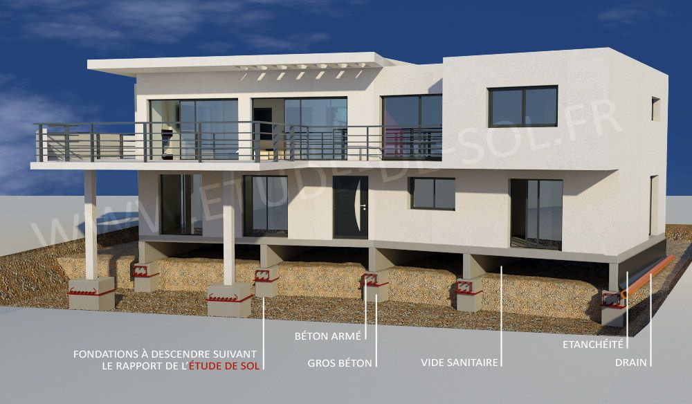 Etude de sol en vue d 39 une construction ou d 39 une extension for Sondage terrain avant construction