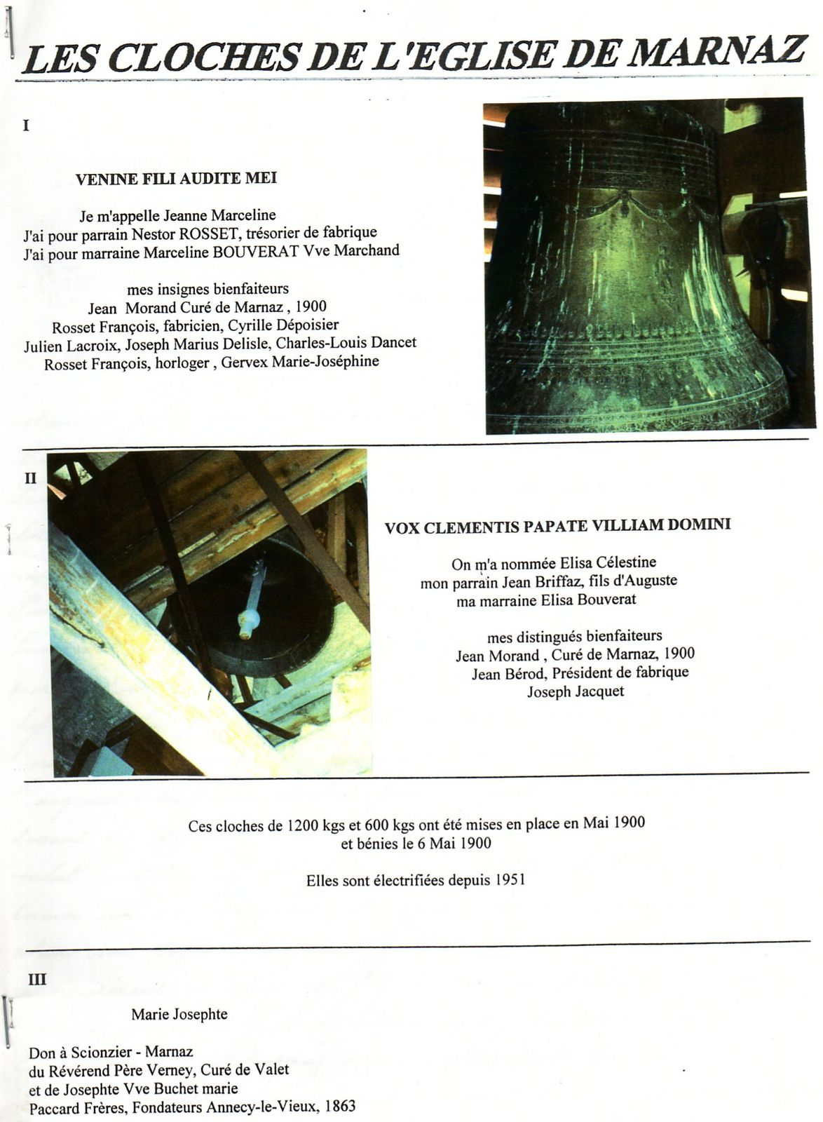 CLOCHES EGLISE MARNAZ page 1
