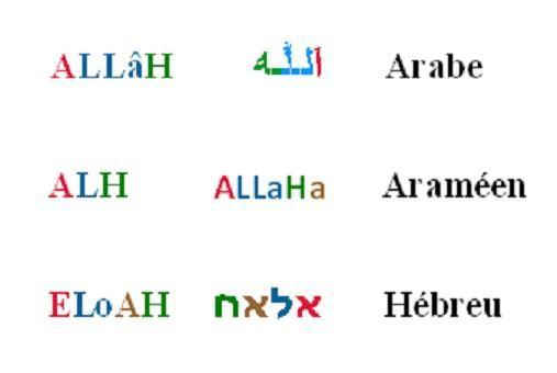 6 Allah en araméen, hébreux