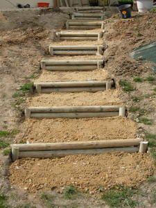Escalier terrasse jardin le blog laventureconstruction for Construire un escalier exterieur en parpaing