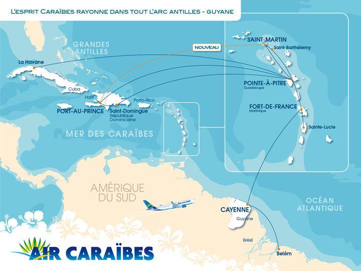 Air cara bes lance un vol direct vers saint martin et - Vol paris port au prince air caraibes ...