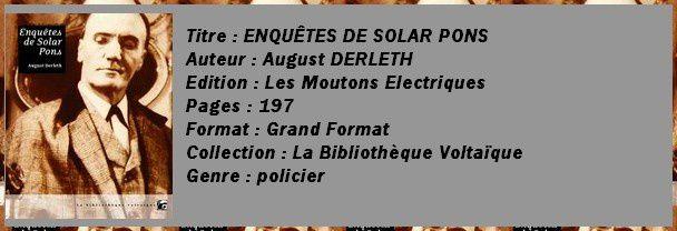 enquêtes de Solar Pons