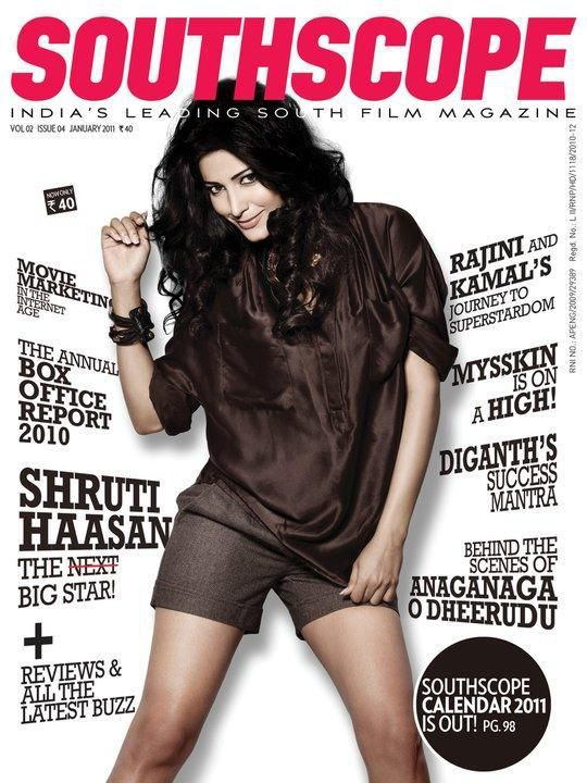 SHRUTI HASSAN SOUTH SCOP COVER JANUARY 2011