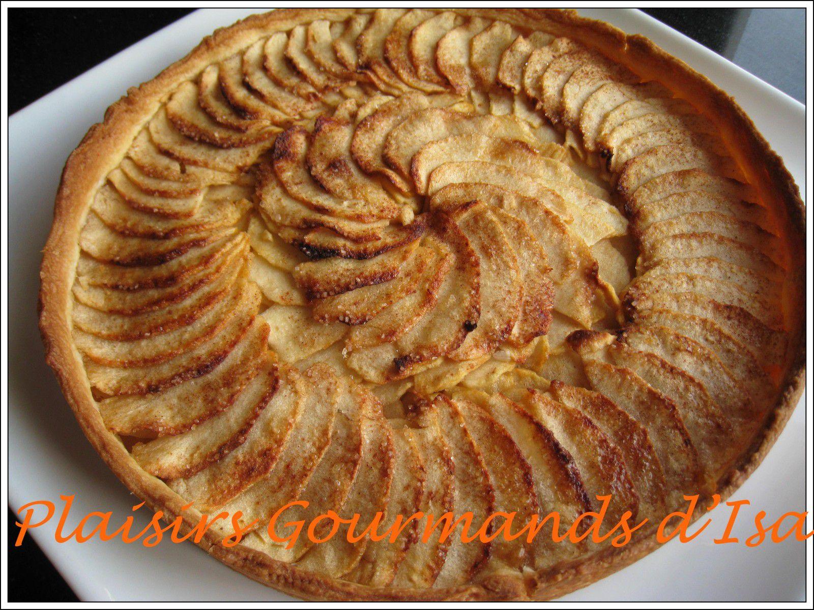 Tarte aux pommes avec compote - Tarte aux pommes compote maison ...