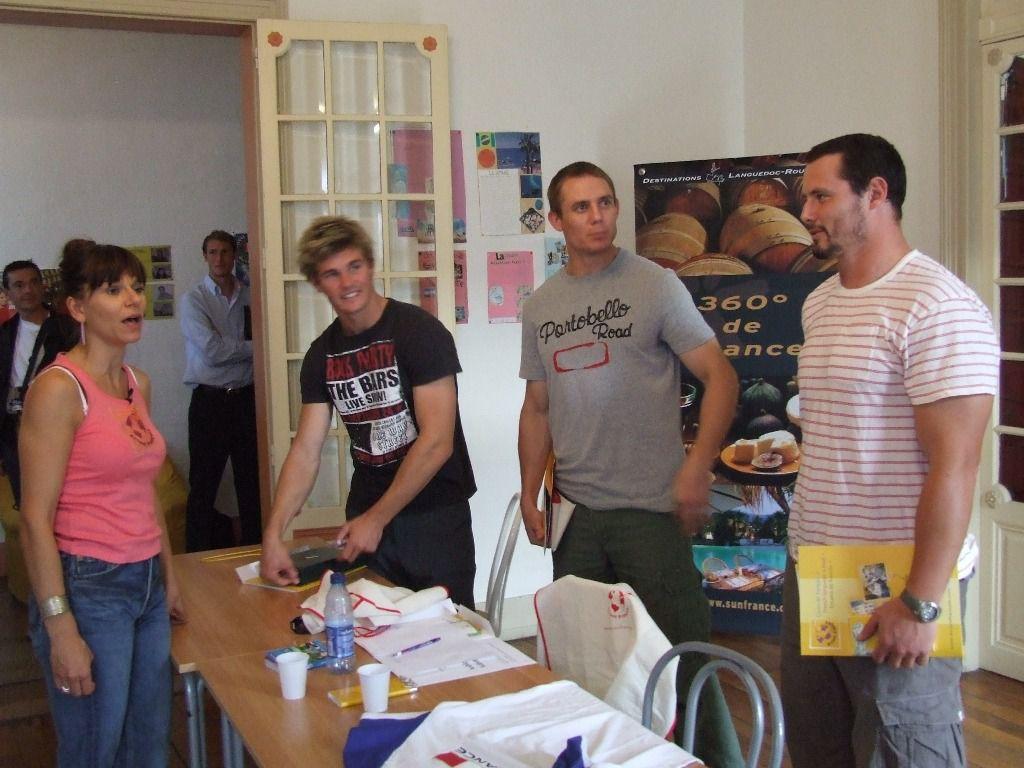 Visite de 5 joueurs de l'equipe d'Australie pour un cours de Francais a Accent Francais Montpellier