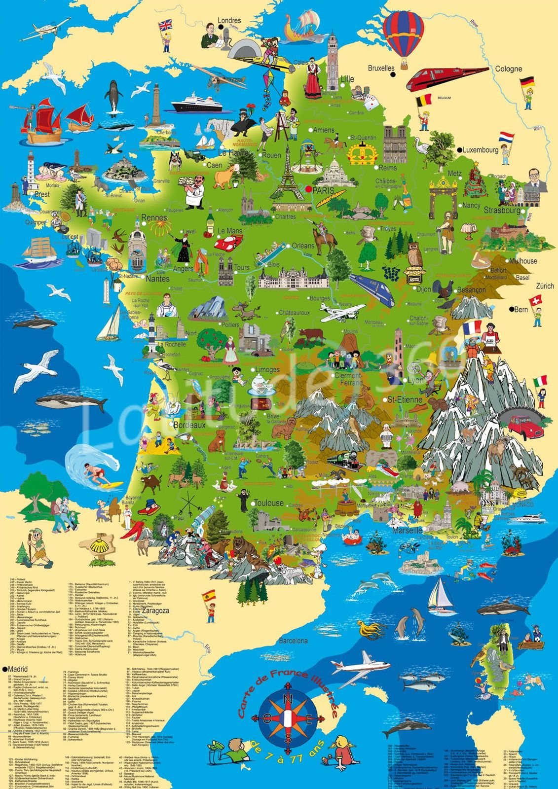 carte de france imprimable