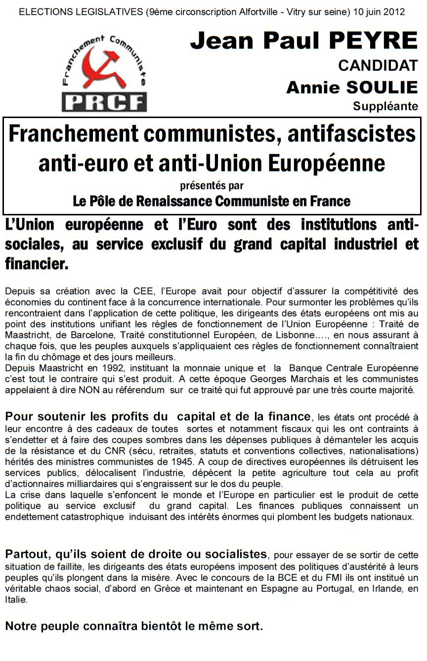 PRCF - URCF - RCC & autres stalinoïdes - Page 2 Prcf-94-tract1