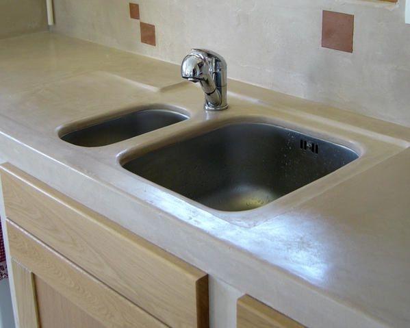 M gamorphose d 39 une cuisine megamorphose stylisme d 39 habitat for Plan de travail en beton cire prix