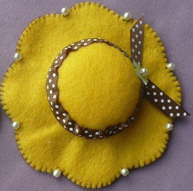 chapeau feutrine frimousse maleles