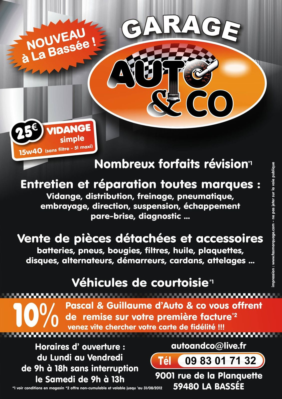 AUTO AND CO CARTES DE VISITES
