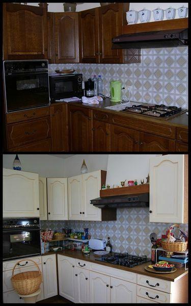 cuisines repeintes eleonore deco id e inspirante pour la conception de la maison. Black Bedroom Furniture Sets. Home Design Ideas