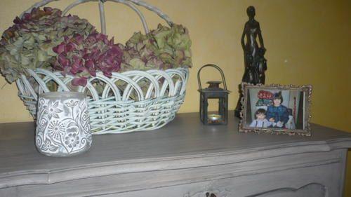 Ma maison et mon jardin d co peinture nadine for Panier deco salon