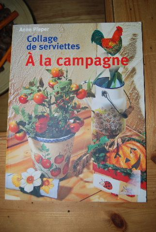 collage de serviettes a la campagne -