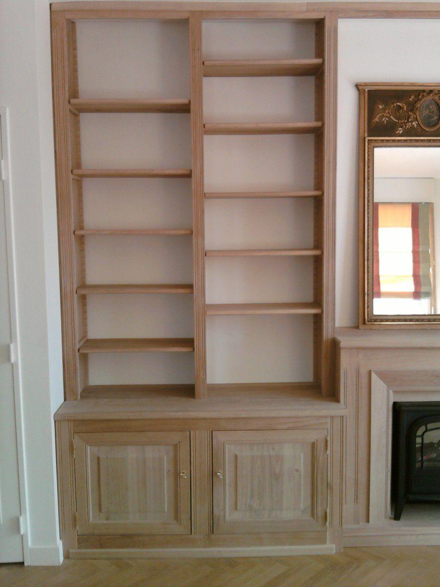 biblioth que en ch ne massif entreprise de menuiserie garches creation agencement eure. Black Bedroom Furniture Sets. Home Design Ideas