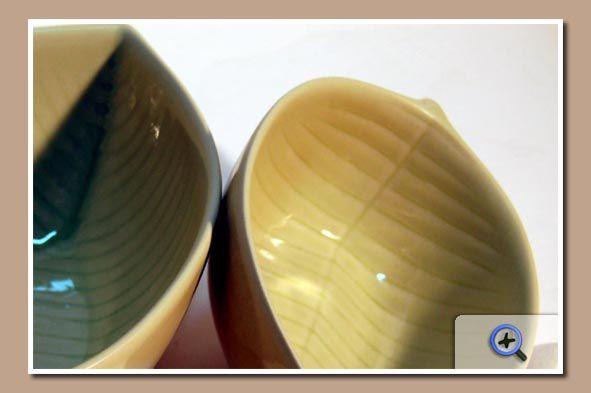Bol céramique feuille