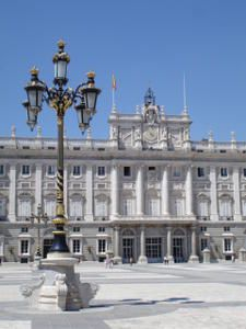 Cour du Palais Royal, Madrid.