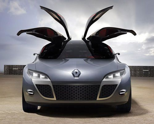 renault megane coup concept changement de ton pour 2008 sport auto video magazine photos. Black Bedroom Furniture Sets. Home Design Ideas