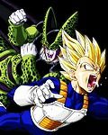 Cell plays with Vegeta