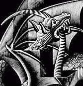 détail du 'Dragon' de Max Escher