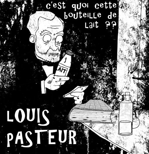 Louis Pasteur caricature