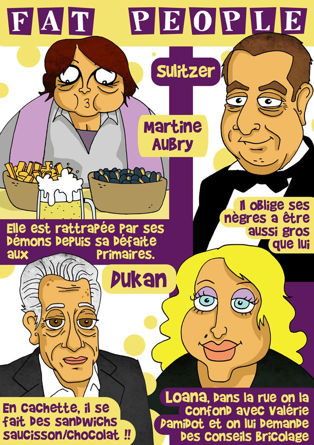 Fat people caricature sulitzer martine aubry loana dukan ec