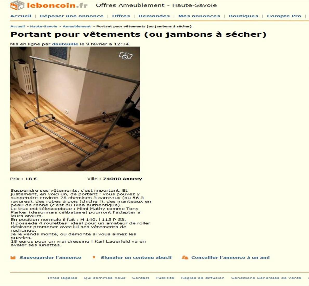 Peut on vendre son blog sur le bon coin the blog of a true duck - Le bon coin 68 electromenager ...