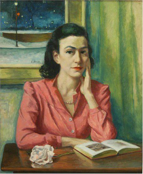 Ernest Fiene Portrait Ann Perls