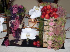 composition fleurs zen