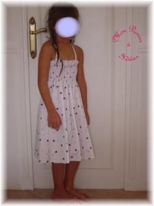Robe fillette smockee