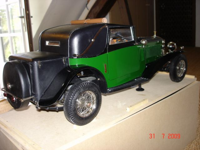 Rolls royce 1932 chelle 1 8 eme pocher int rieur for Interieur rolls royce