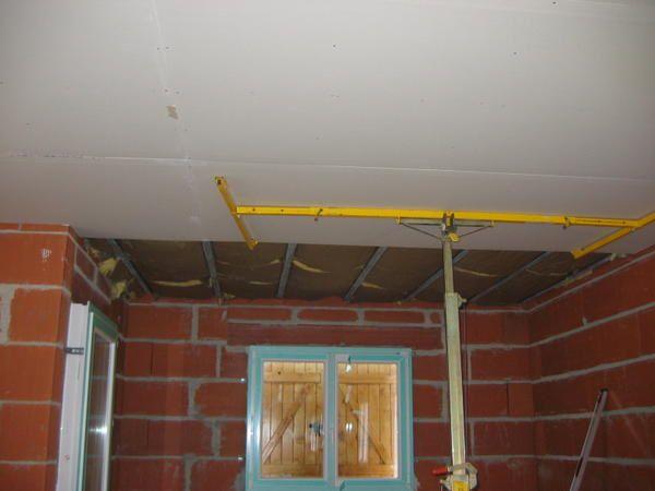 la pose du placo au plafond ma maison jour par jour