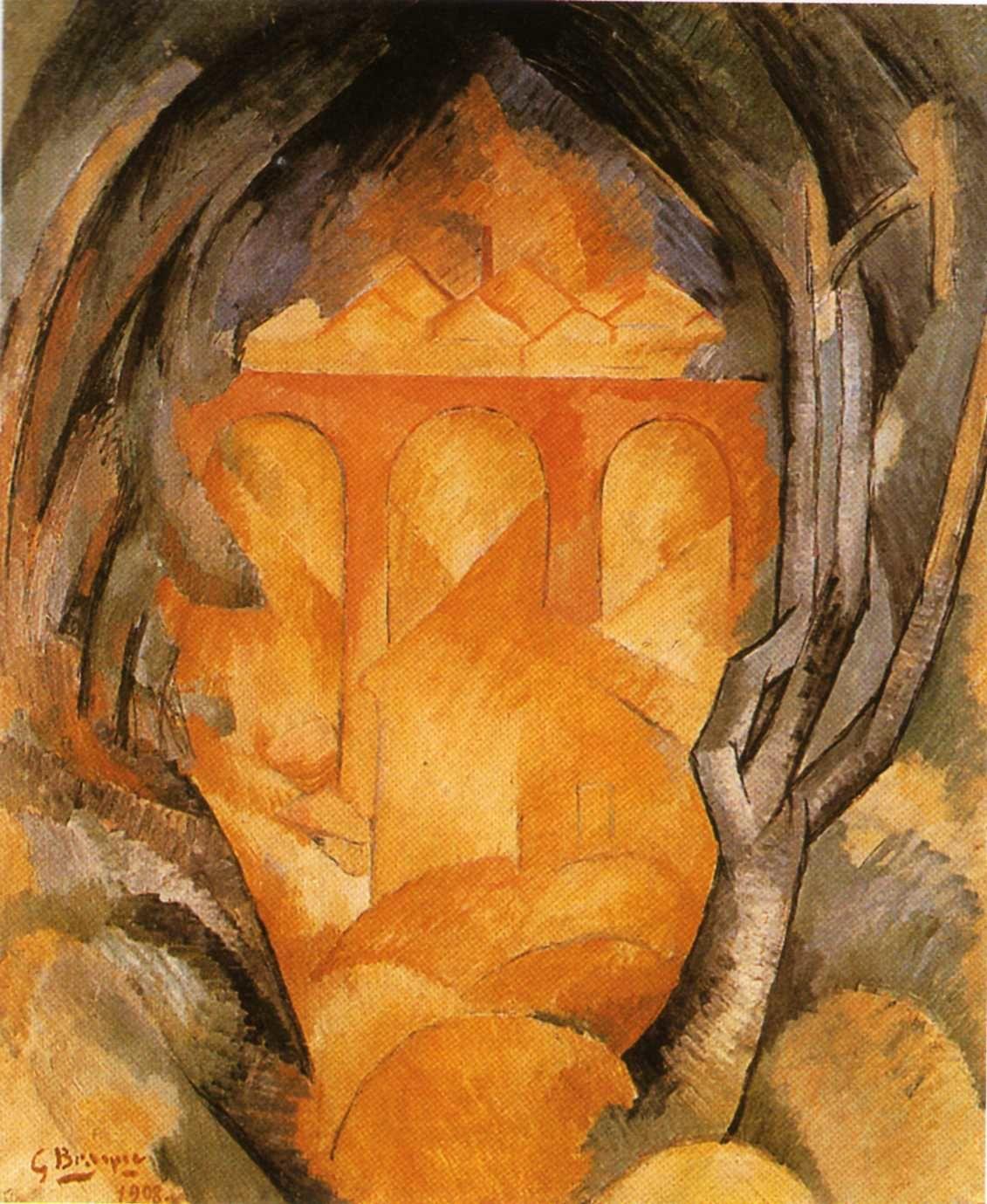 Et le cubisme nait l 39 estaque l 39 ocre bleu for Braque peintre