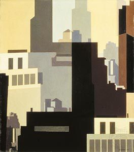 Charles Sheeler - Canyons 1951