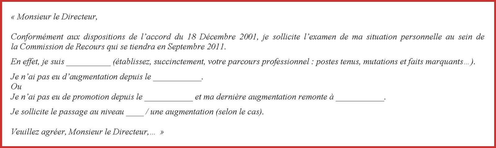 Promotion Augmentation Commission De Recours Le Blog De L