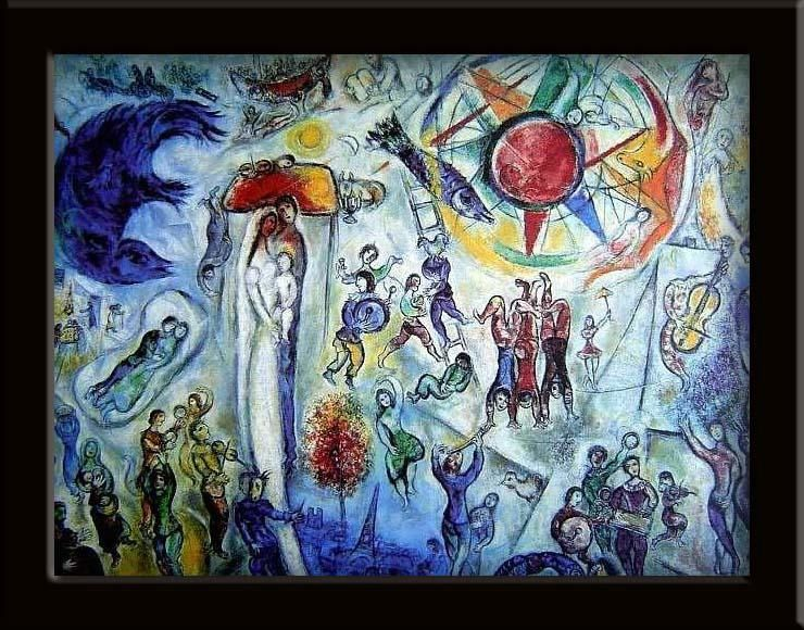 Marc chagall nos b tises for Chagall tableau